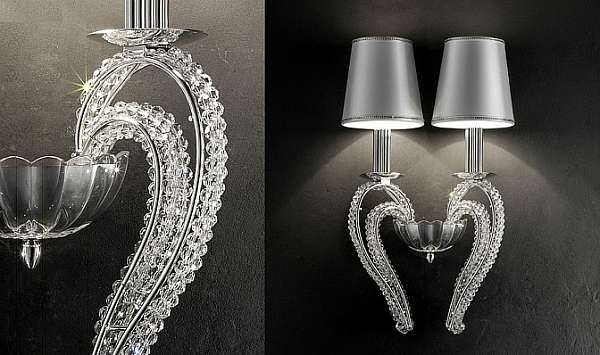 Sconce MASIERO (EMME PI LIGHT) LUXURY Silver cristalry / A2